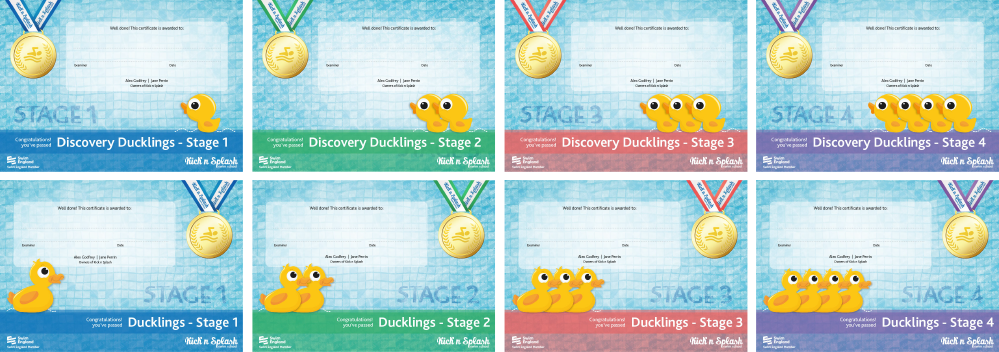 Discovery Ducklings & Duckings Certificates