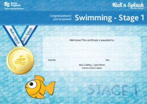 Swimming Stage 1 Certificate