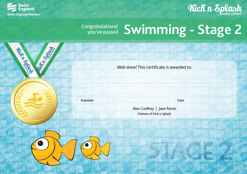 Swimming Stage 2 Certificate