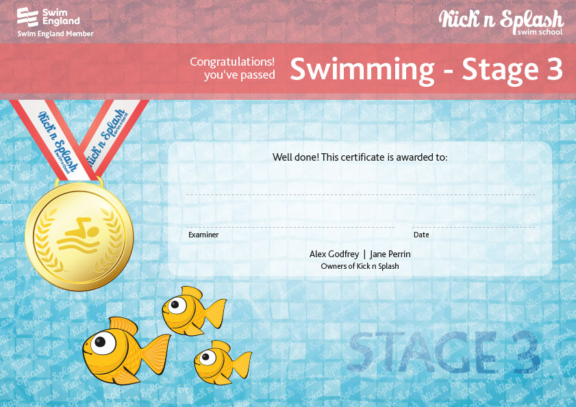 Swimming Stage 3 Certificate
