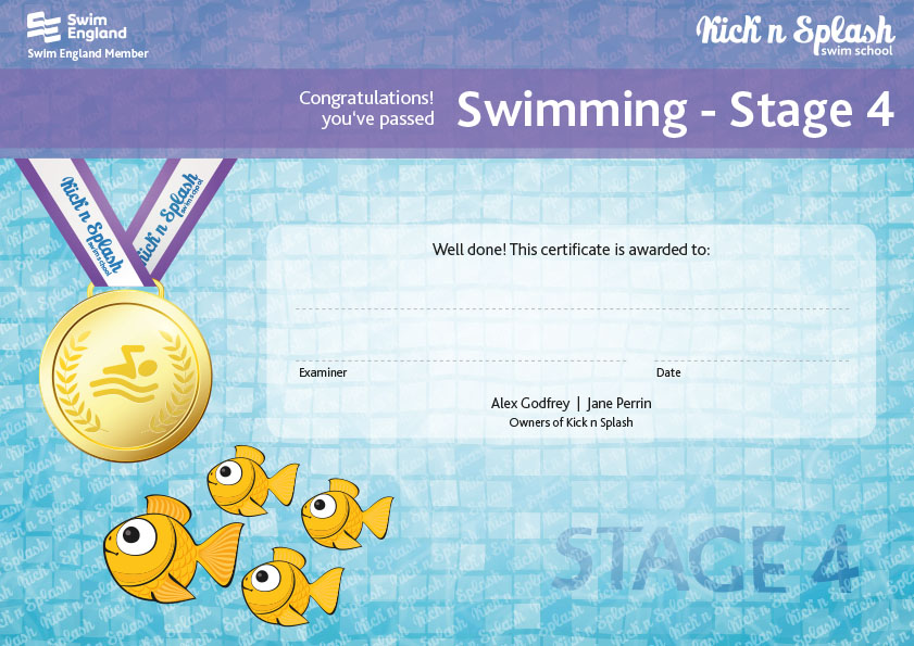 Swimming Stage 4 Certificate