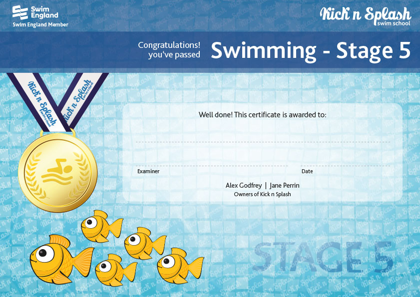 Swimming Stage 5 Certificate