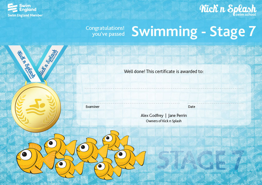 Swimming Stage 7 Certificate